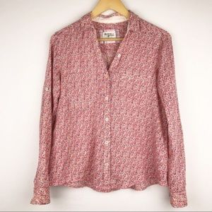 Anthropologie Holding Horses Crosshatch Button up